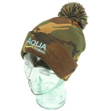 Aqua - Camo Bobble Hat