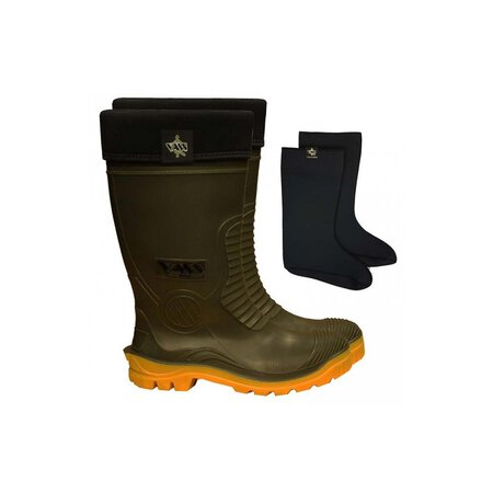 VASS - E Winter Boot Green/Yellow with Neoprene Liner - Size 11 / 46