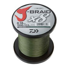 Daiwa - J-Braid  X8  (Meterware) Dunkelgrün - 0.10mm 7,0kg