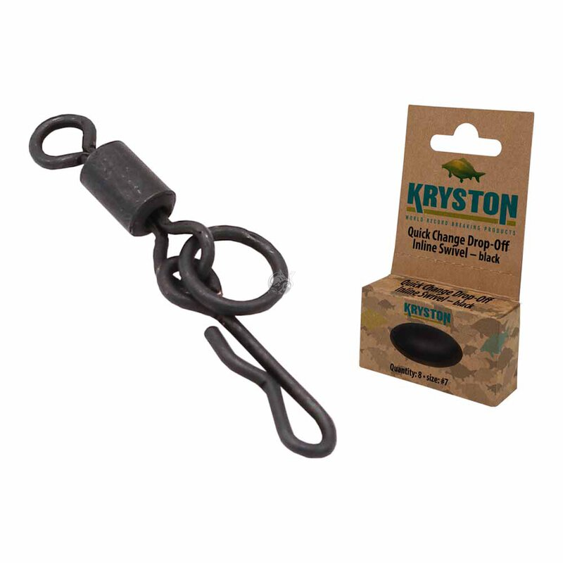 Kryston - Quick Change Drop-Off Inline Swivel Black - Size 7